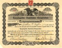Encyclopedia Americana Corporation - New York 1915