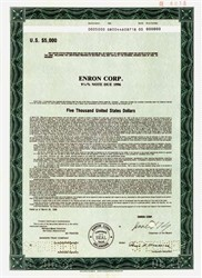 Enron Corporation - 1986 - 9 1/2% Bond with Ken Lay as Chairman