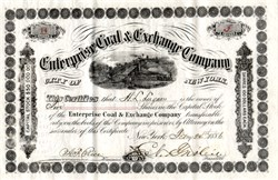 Enterprise Coal & Exchange Company - New York 1886