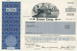 Enron Corporation - Ken Lay as Chairman + crooked E logo - 2000