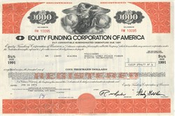 Pack of 100 Certificates - Equity Funding Bond $1,000 Huge Wall Street Scandal 1970s - Price includes shipping costs to U.S.