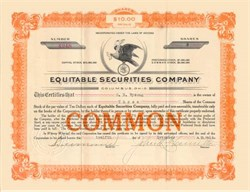 Equitable Securities Company 1914