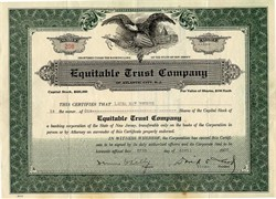 Equitable Trust Company - New Jersey 1932