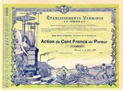 Establishment Verminck, Marseille - Famous Soap Company 1909
