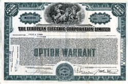 European Electric Corporation - 1930