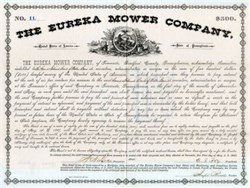 Eureka Mower Company - Towanda, Bradford County Pennsylvania 1882