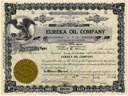 Eureka Oil Company - Nevada 1926