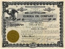 Eureka Oil Company - Nevada 1926