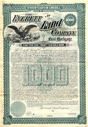 Everett Land Company - Washington 1893