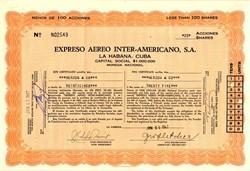 Expreso Aereo Inter-Americano, S.A. - Cuba 1947