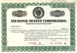 Exchange Buffet Corporation - New York 1920