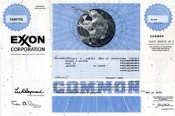 Exxon Corporation (Pre Exxon Mobil Merger)  - Issued uncancelled - 1992
