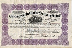 Excelsior Grain Binder Company Limited - New York 1876