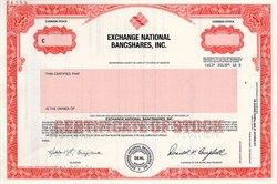 Exchange National Bancshares, Incorporated - Missouri