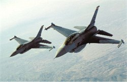 F-16D & C Fighting Falcons postcard