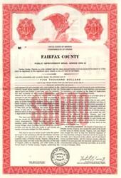 Fairfax County Public Improvement Bond - Fairfax County, Virginia 1972