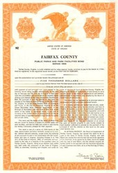 Fairfax County Pubic Park Bond - Virginia 1969