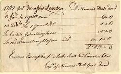 Fairfax County, Virginia document dated 1747