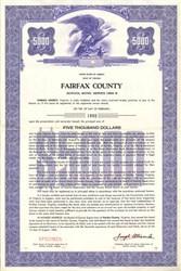 Fairfax County School Bond - Virginia 1966