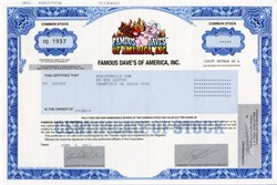 Famous Dave's of America, Inc.