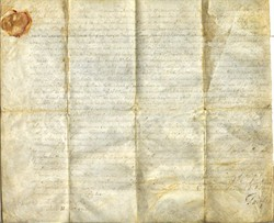 Land Document hand signed by Lord Thomas Fairfax (Fairfax County, Virginia and Fairfax, Virginia are named for Lord Fairfax)  - 1852