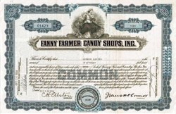 Fanny Farmer Candy Shops, Inc. (Founder, Frank Patrick O'Connor as President) - New York 1934