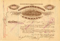 Favorite Gold Mining Company - Teller County, Cripple Creek - Colorado 1902