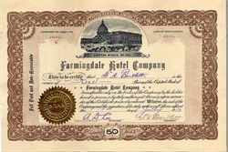 Farmingdale Hotel Company - South Dakota 1910
