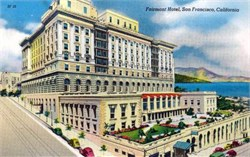 Fairmont Hotel, San Francisco, California Postcard