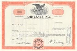 Fair Lanes, Inc. - Famous Bowling Company