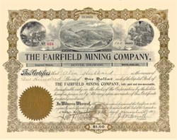 Fairfield Mining Company, Denver Colorado 1909