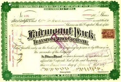 Fairmount Park Transportation Company 1897
