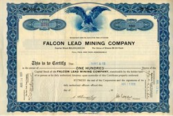 Falcon Lead Mining Stock 1926