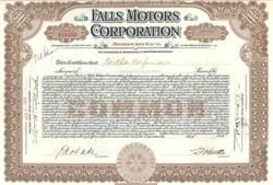Falls Motor Corporation 1919 - Virginia