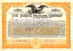 Fageol Motors Company - Ohio 1921