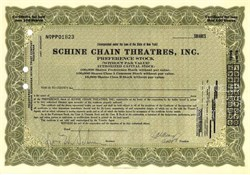 SCHINE Chain Theatres Stock 1928 - Famous Surpreme Court Anti Trust Decision