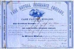 Fame Mutual Insurance Company - Pennsylvania 1857