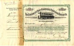 Fairmount Park and Haddington Passenger Railway Co. - Pennsylvania  1895