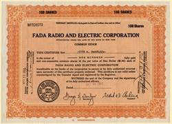 FADA Radio and Electric Corporation (Famous Catalin Radio maker) - New York 1933
