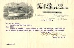 Fall River Line - New York 1894