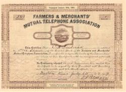 Farmers & Merchants' Mutual Telephone Association Norton, Kansas 1905