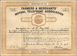 Farmers & Merchants' Mutual Telephone Association 1909