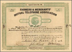 Farmers & Merchants' Mutual Telephone Association 1906 - Kansas