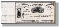 Farmers Union of San Jose, California 1870's
