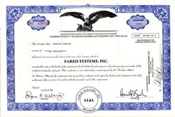 Fared Systems, Inc. - Delaware 1989