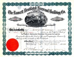 Fawcett Ventilated Fireproof Building Co. Limited - Pennsylvania 1896