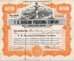 F. B. Haviland Publishing Company (Tin Pan alley Music Publishing company)  - New York 1911