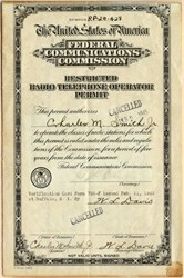 Federal Communications Commission (Restricted Radio Telephone Operator's Permit)  - 1940