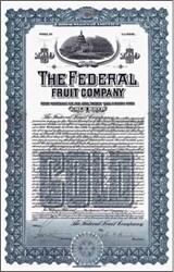 Federal Fruit Company Gold Bond 1909 - DC Capitol Vignette