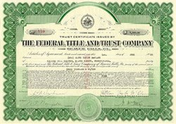 Federal Title and Trust Company -  Beaver Falls, Pennsylvania